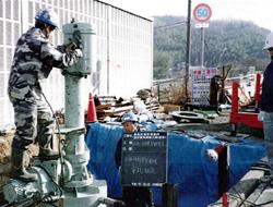 蓮花寺市内送水管工事