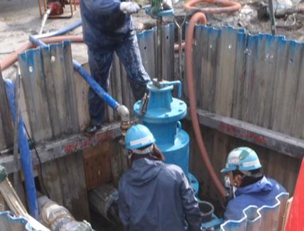 送水管等布設替工事(長島福吉)